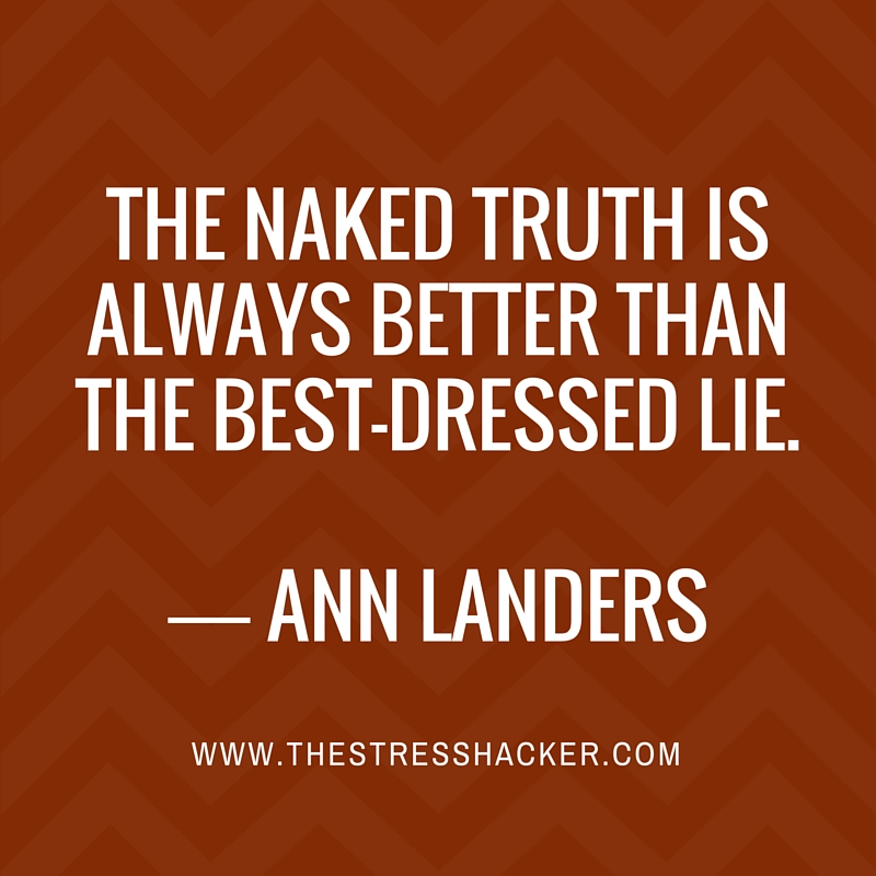 The naked truth is always better than the best-dressed lie ― Ann Landers