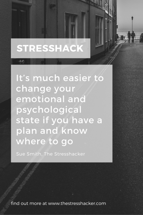 It's much easier to change your emotional and psychological state if you have a plan and know where to go